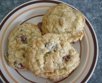 Oatmeal Cranberry Almond White Chocolate Chip Cookies
