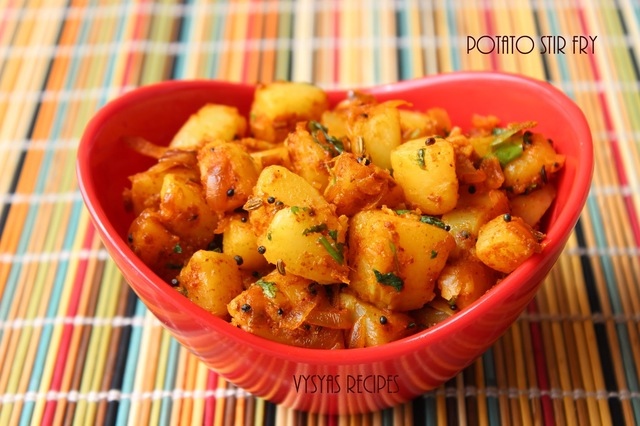 Potato Stir Fry - Spicy Aloo fry - Potato Roast