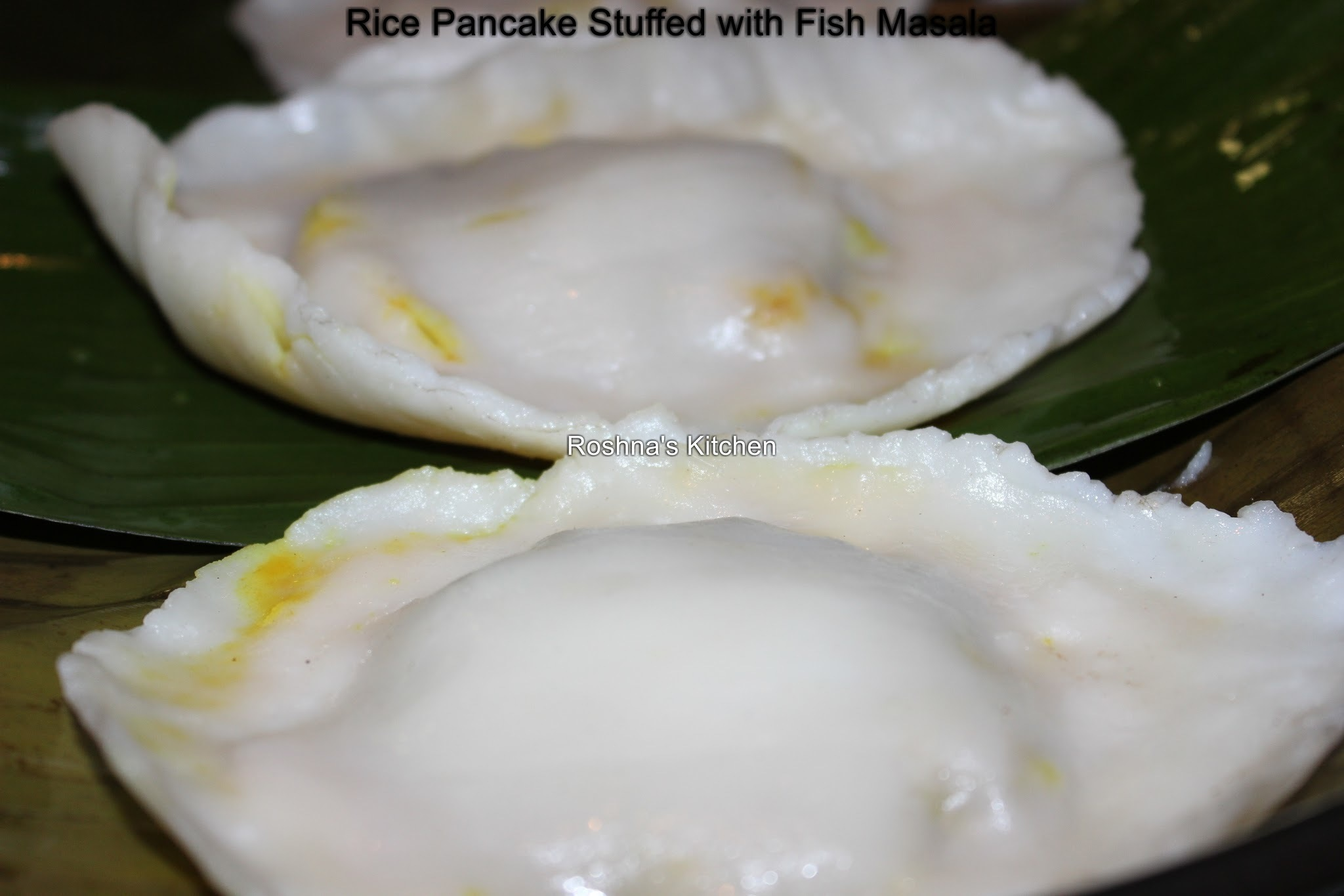 Rice Pancake Stuffed with Fish Masala / Fish Pathiri