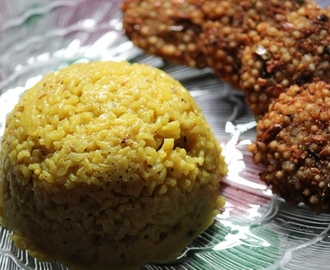 Yellow Pongal Recipe - Manja Pongal Recipe - Manjal Pongal Recipe