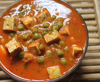 Tofu and Peas Curry Recipe - Tofu Matar Recipe