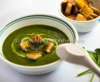 Healthy Palak Soup