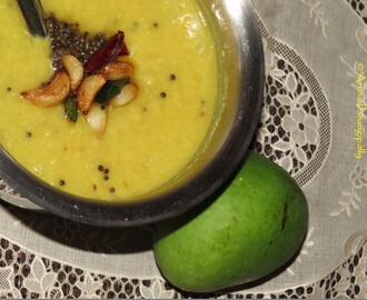 Mammidikaya Pappu (Dal with Raw Mango)