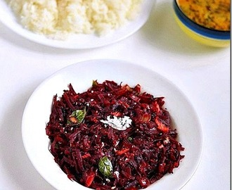 Easy Beetroot Poriyal Recipe-Bachelor's Recipes