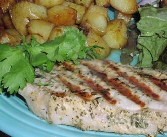 Mustard & Herb Grilled Pork Chops