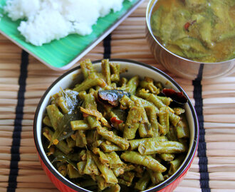 Long Beans Poriyal - Long beans dry masala - Simple side dish for Rice / Roti