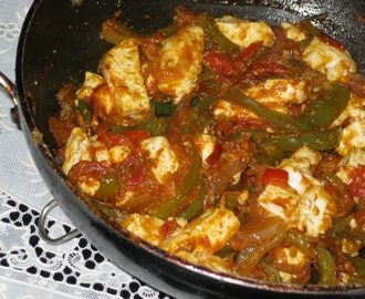 Kadhai Paneer (Cottage Cheese with Capsicum and Tomato)