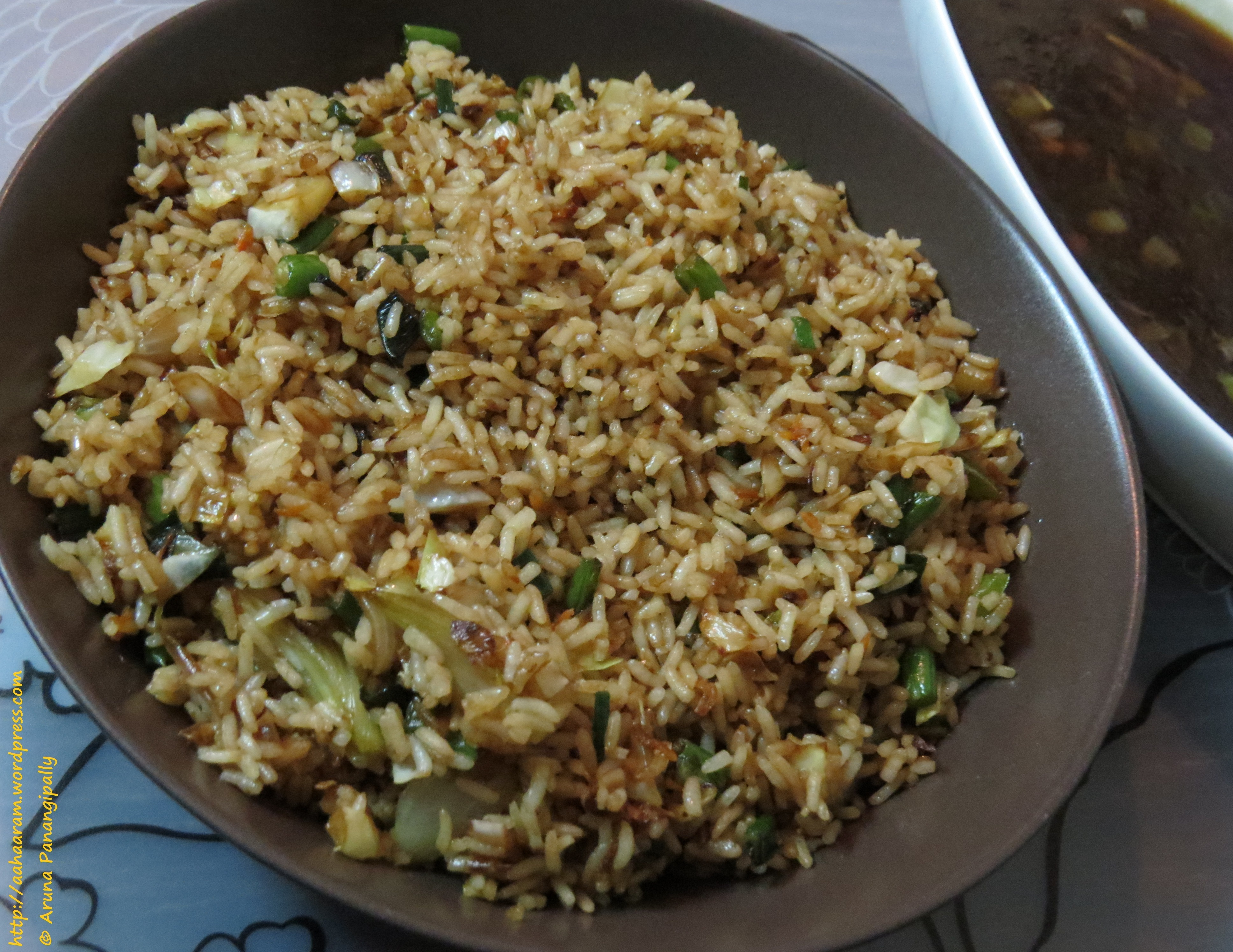 Vegetarian Chinese Fried Rice or Vegetable Fried Rice