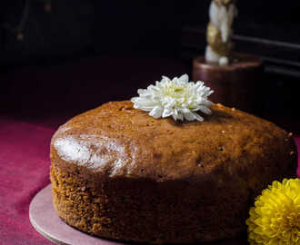 Steamed Orange Honey Cake (Egg-less & Butter-less) / Orange Sponge Cake