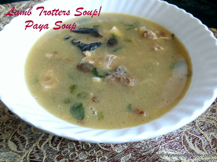 Lamb Trotters Soup,Mutton Paya Soup|Aatu Kaal Soup Recipe
