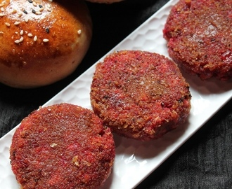 Beetroot & Tofu Cutlet Recipe / Beetroot Burger Recipe