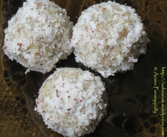 Quick and Easy Coconut Laddoo or Nariyal Laddu