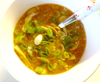 hot and sour kinesisk suppe