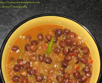 Kala Chana Masala or Senagala Koora (Whole Bengal Gram Curry)