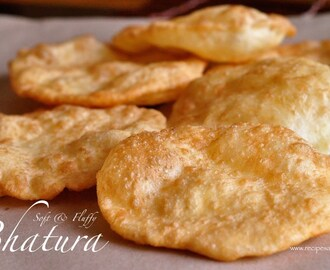 Soft Fluffy Bhatura – Indian Puffed Bread using Yeast