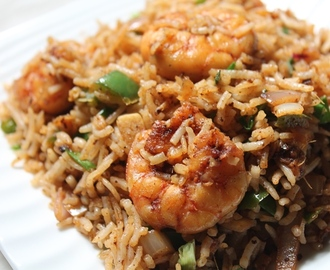 Prawn Fried Rice Recipe / Shrimp Fried Rice Recipe