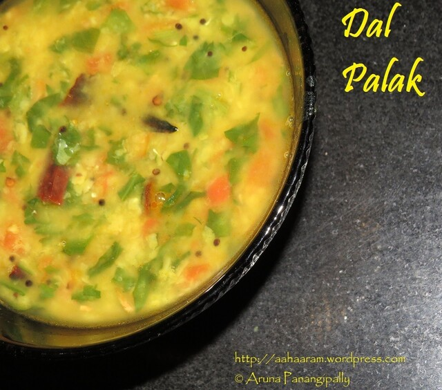 Dal Palak (Spinach with Pigeon Pea)