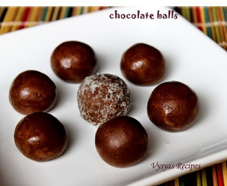Chocolate Balls - 10  Minutes Chocolate Balls -  Easy Chocolate balls