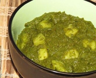 Aloo Palak (Potato in Spinach Gravy)