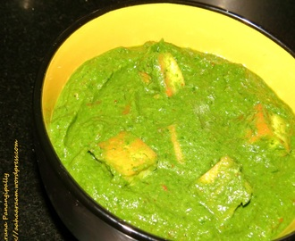 Creamy Palak Paneer – Cottage Cheese in a Creamy Spinach Gravy
