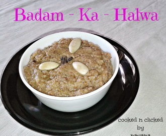 Badam Ka Halwa - For ICC