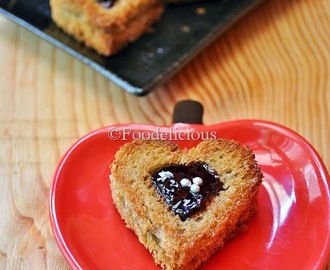 Quick Jammy Hearts | Easy Recipes With Bread | Step Wise
