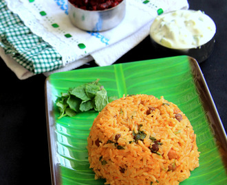 Chickpea, Radish Biryani - Kondakadalai Radish Biryani rice - Chana Radish rice -  Mullangi Lunch box recipe - One Pot meal