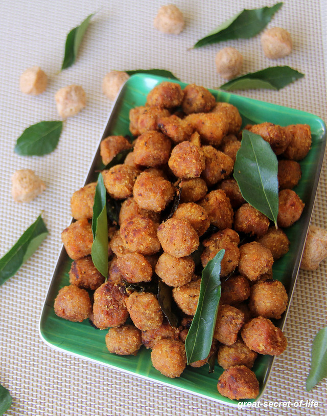 Meal Maker Fry - Soya Nuggets Fry - Soya Chunks Fry - Snack Recipe - Kids friendly