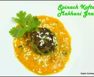 Spinach Kofta in Makhani Gravy(Palak Kofta Curry)