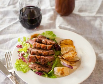 Duck Breast with Pomegranate-Citrus Glaze