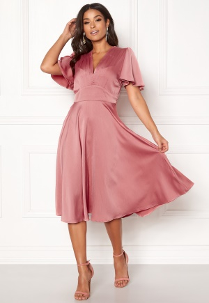 Y.A.S Valley S/S Dress Rose Smoke S
