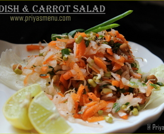 Radish & Carrot Salad / Diet Friendly Recipes - 5 / #100dietrecipes