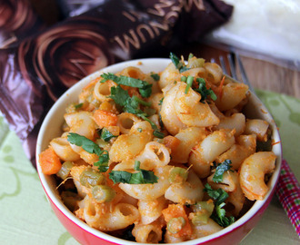 Paneer macaroni - Macaroni with Indian Cottage Cheese - Paneer pasta - Simple kids friendly meal