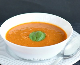 Tomato Basil Soup Recipe | Vegan Tomato Soup with Basil