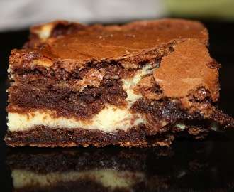 Chocolate cream cheese brownies - Oppskrift