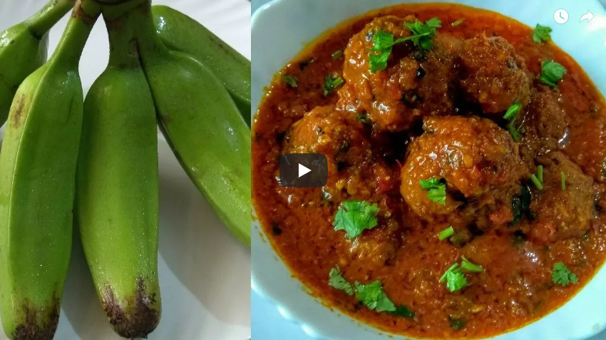 Raw Banana Kofta Curry Recipe Video
