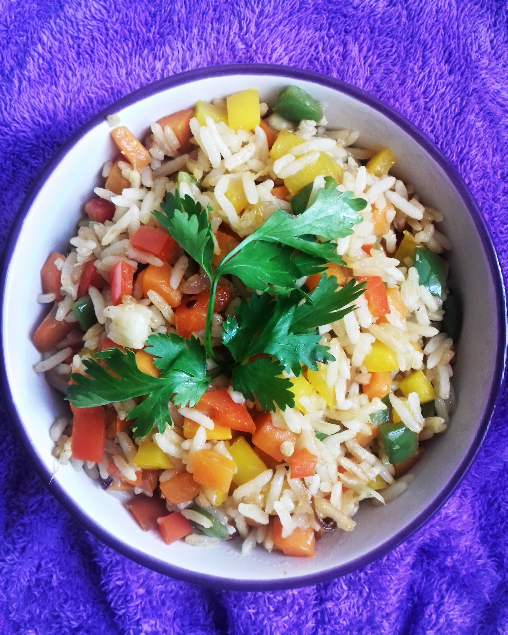 Mixed Pepper and Ginger Fried Rice
