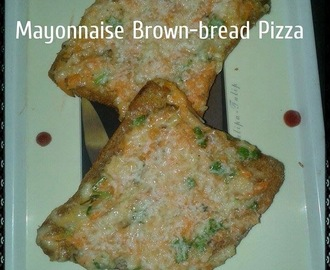 Mayonnaise Brown-Bread Pizza Recipe