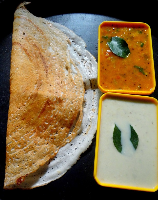 Crispy Flour dosa ( udad dal and rice four dosa )