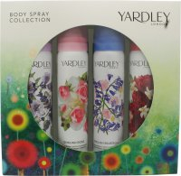 Yardley London Body Spray Collection Presentset 4 x 75ml English Lavender + English Rose + English Bluebell + English Dahlia