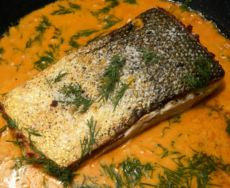 Lachs in Senf Honig Dill Sauce