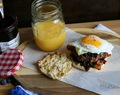 Wild Blueberry Glazed Breakfast Burger #SayItWithHomemade #BonneMaman