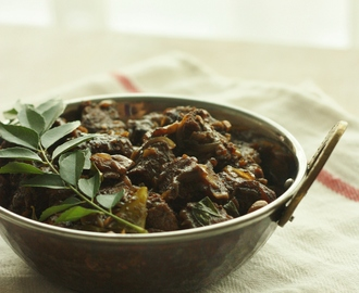 Kerala style pepper beef with mushrooms