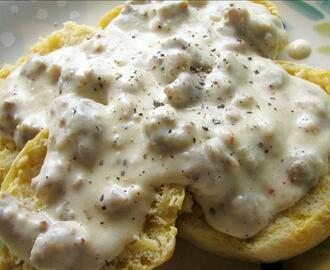 Merm's Biscuits and Sausage Gravy
