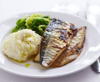 Grilled mackerel with horseradish mash | Tesco Real Food | Recipe | Mackerel recipes, Tesco real food, Grilled mackerel