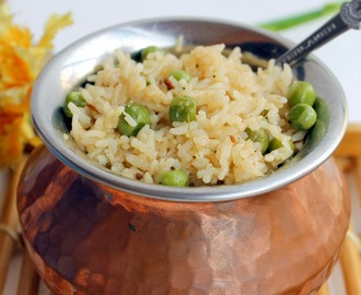 Peas Pulao | Rice With Green Peas | No Onion And No Garlic Recipe