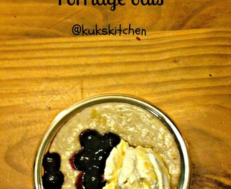 Breakfast porridge oats with blueberries and maple syrup  | Kukskitchen