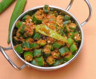 Vendaikkai (Okra) Podi Curry/Bhindi Curry With Spiced Dal Powder