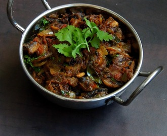 Chettinad Mushroom Masala/Chettinad Kaalan Curry