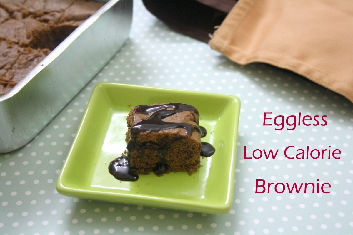 Eggless Low Calorie Brownie